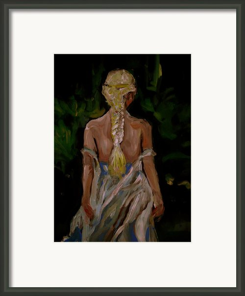 Blue Dress Framed Print By Adam Kissel