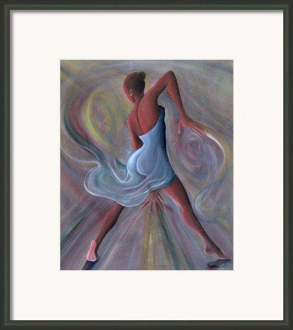 Blue Dress Framed Print By Ikahl Beckford
