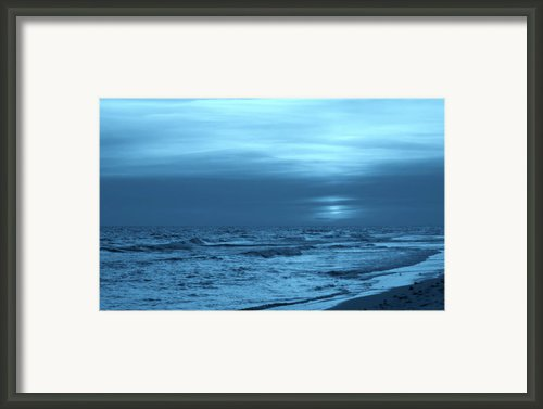 Blue Evening Framed Print By Sandy Keeton