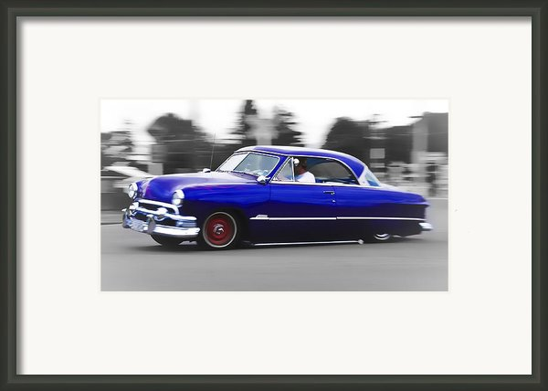 Blue Ford Customline Framed Print By Phil