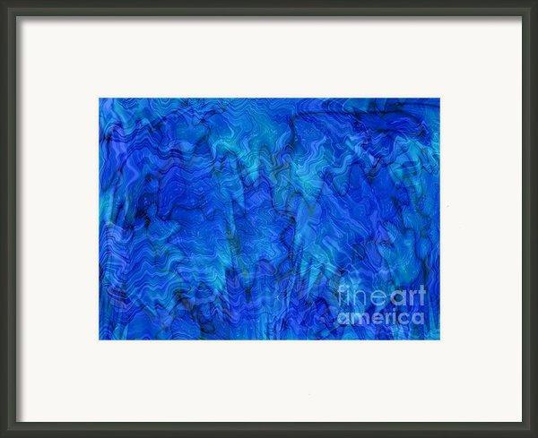 Blue Glass - Abstract Art Framed Print By Carol Groenen