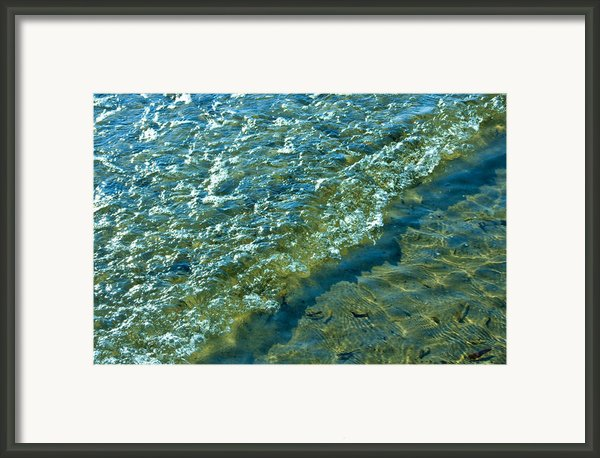 Blue Glass Seascape Framed Print By Aleck Rich Seddon