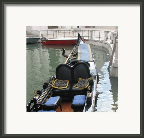 Blue Gondola Framed Print By Italian Art- Angelica