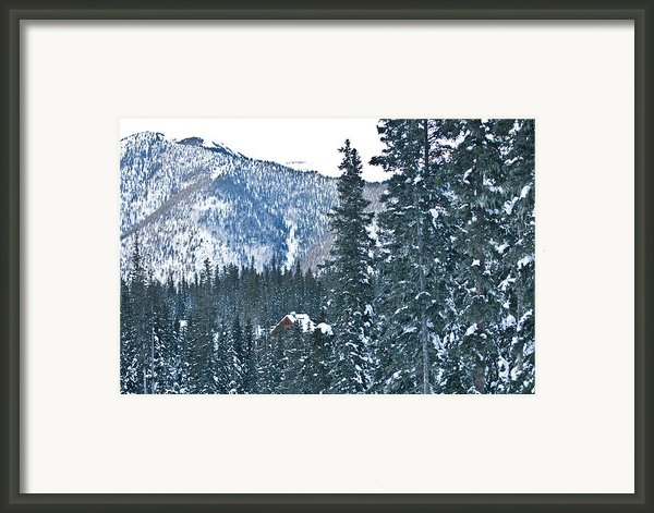 Blue Green Mountain Framed Print By Lisa  Spencer