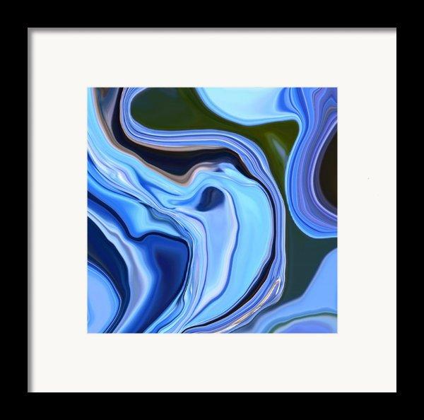 Blue Hydrangea Abstract  Framed Print By Linnea Tober