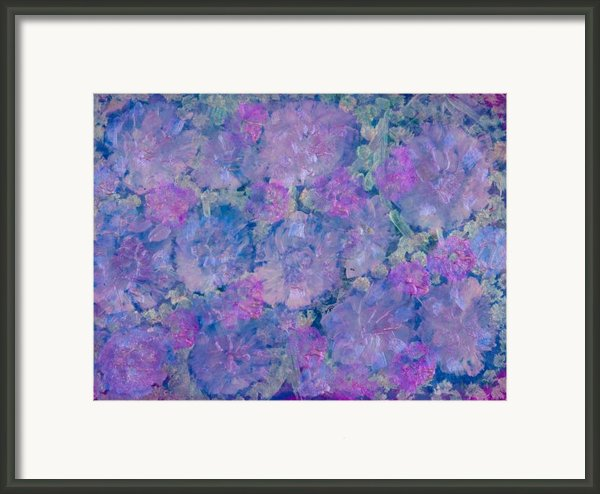 Blue Iridescent Framed Print By Don  Wright