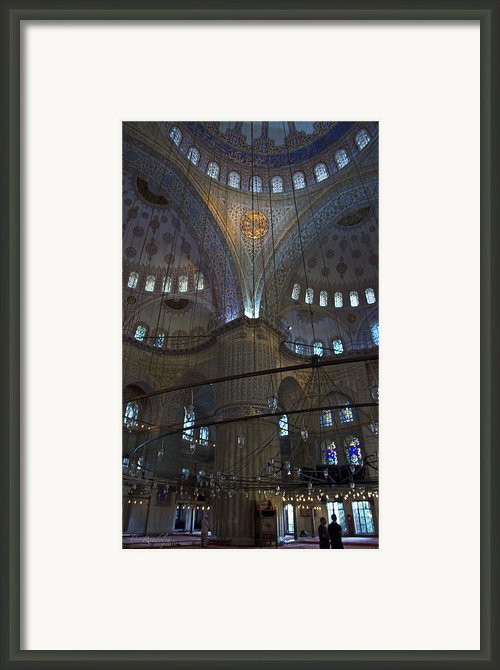 Blue Mosque Interior Framed Print By Cheri Randolph