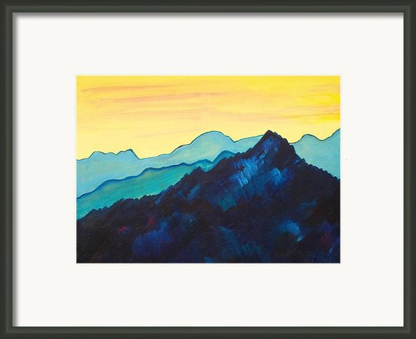 Blue Mountain Ii Framed Print By Silvie Kendall