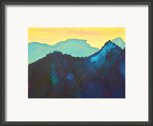 Blue Mountain Framed Print By Silvie Kendall
