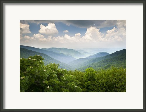 Blue Ridge Parkway - Craggy Gardens Overlook Framed Print By Dave Allen