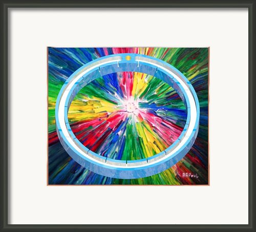 Blue Ring Framed Print By Buddy Paul