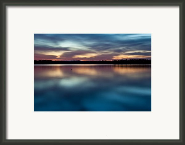 Blue Skies Of Reflection Framed Print By Jonas Wingfield