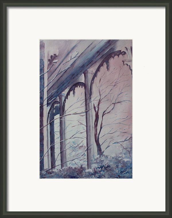 Blue Snow Framed Print By Patsy Sharpe