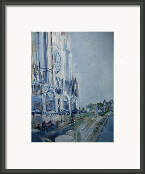 Blue Study Of Chartre Framed Print By Carol Mangano