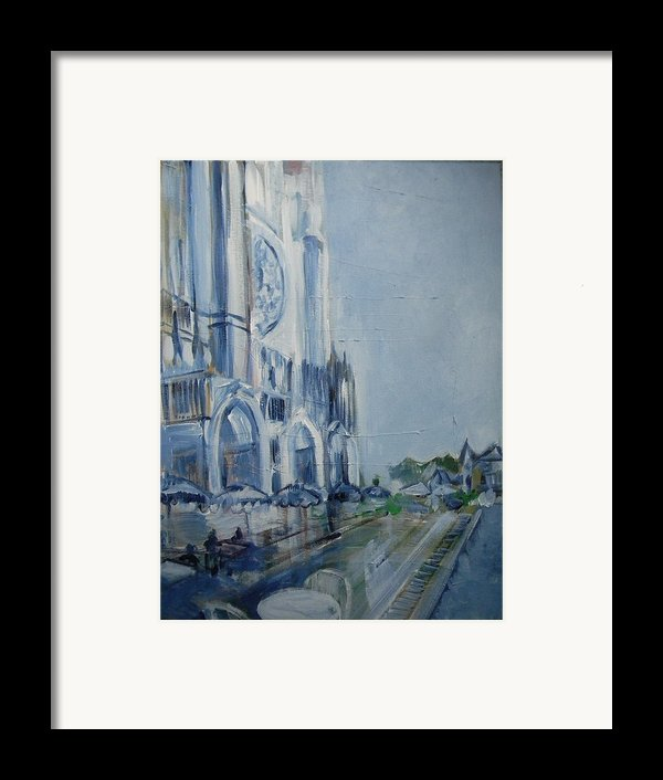Blue Study Of Chartre Framed Print By Carol Mangano