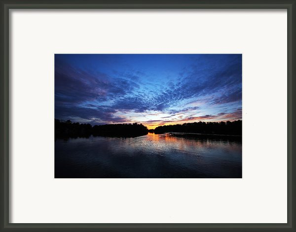Blue Sunset Framed Print By Ty Helbach