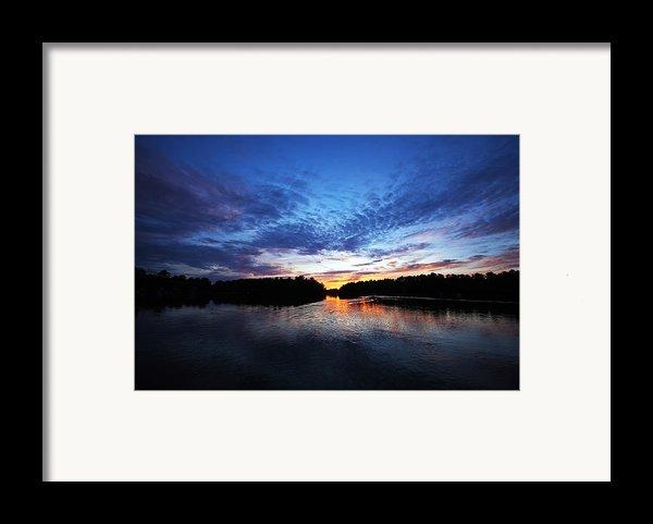 Blue Sunset Framed Print By Ty Helbach