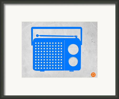Blue Transistor Radio Framed Print By Irina  March