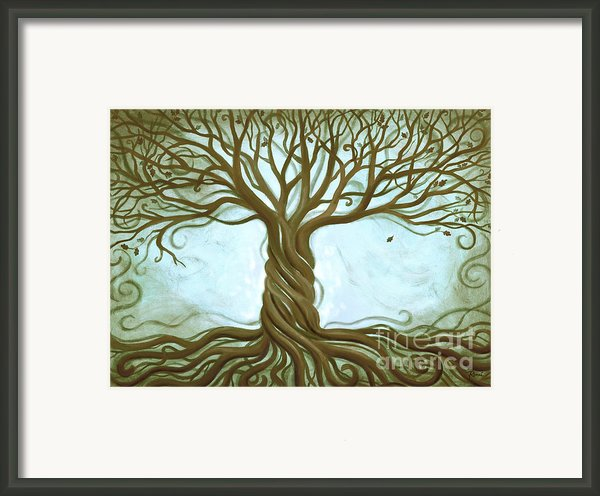 Blue Tree Of Life Framed Print By Renee Womack