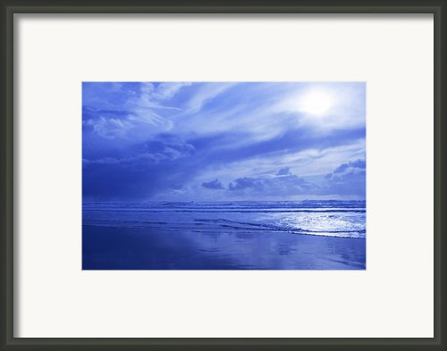 Blue Waterscape Framed Print By Christine Mariner