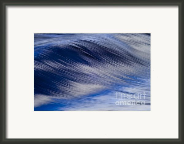 Blue Wave Framed Print By Heiko Koehrer-wagner