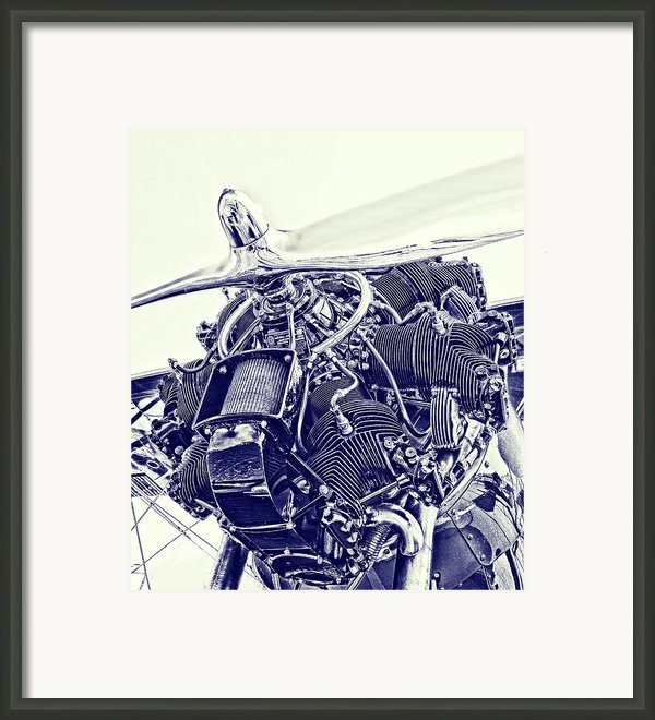 Blueprint Radial Framed Print By Steven Richardson