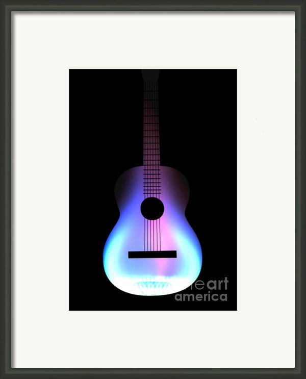 Blues Guitar On Fire Framed Print By Andy Smy