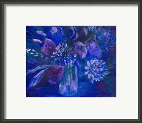 Blues To Brighten Your Day Framed Print By Joanne Smoley