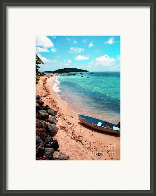 Boat Beach Vieques Framed Print By Thomas R Fletcher