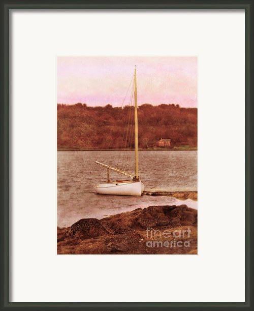 Boat Docked On The River Framed Print By Jill Battaglia