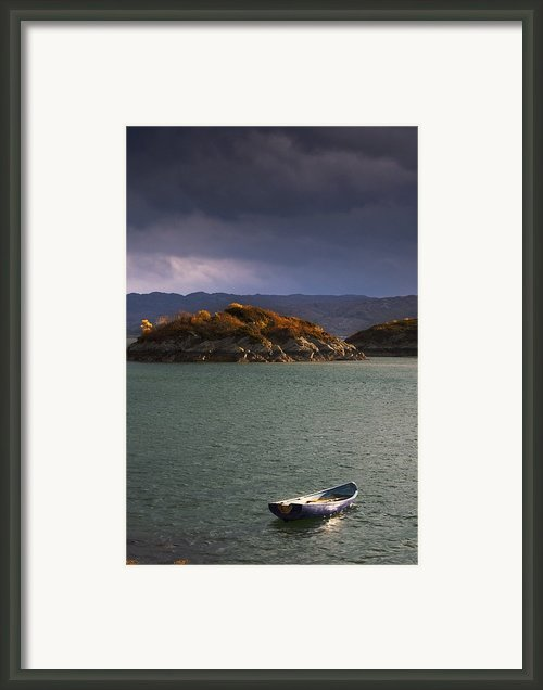 Boat On Loch Sunart, Scotland Framed Print By John Short