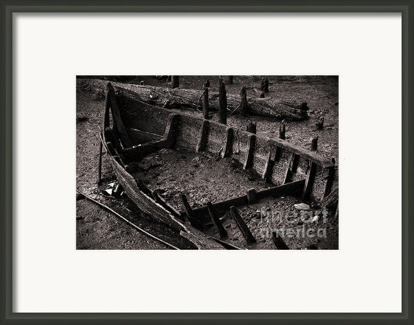 Boat Remains Framed Print By Carlos Caetano