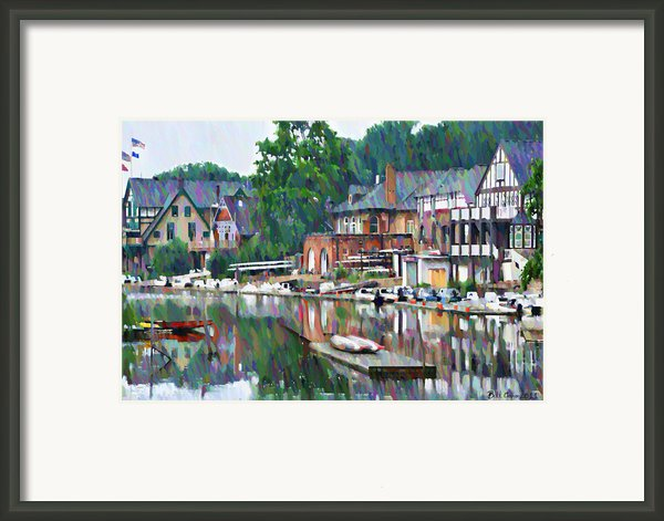 Boathouse Row In Philadelphia Framed Print By Bill Cannon