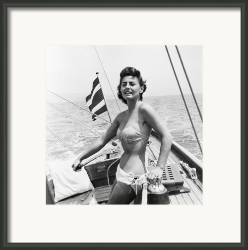 Boating Bather Framed Print By Baron