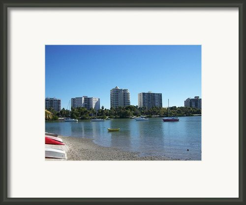 Boats In Sarasota Bay Framed Print By Tiffney Stevens