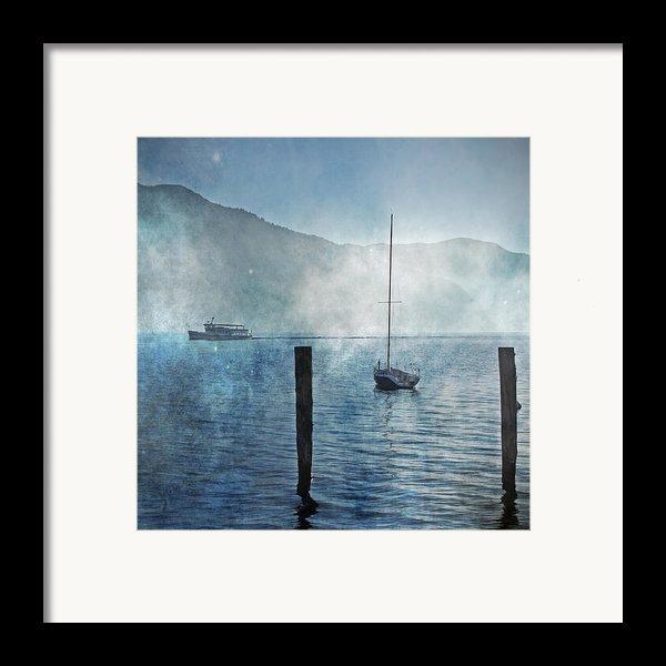 Boats In The Fog Framed Print By Joana Kruse
