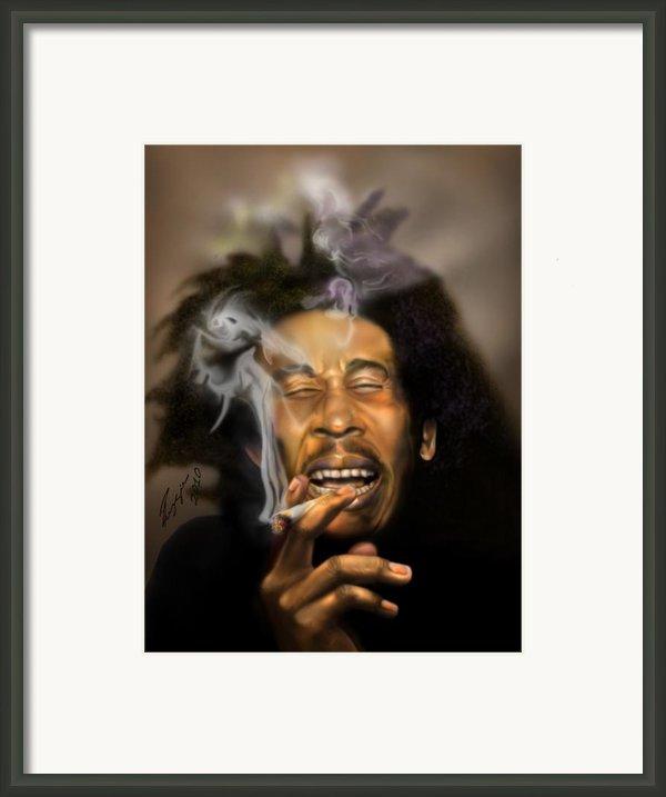 Bob Marley-burning Lights 3 Framed Print By Reggie Duffie