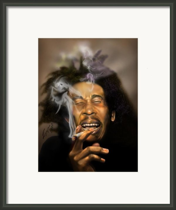 Bob Marley-burning Lights 3 Framed Print By Reggie Duffie