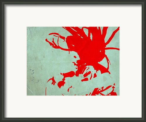 Bob Marley Red Framed Print By Irina  March