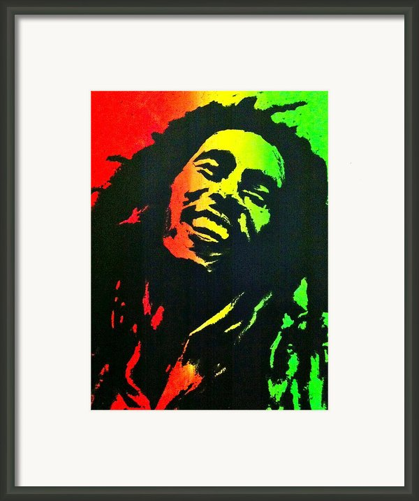 Bob Marley Smile Framed Print By Siobhan Bevans