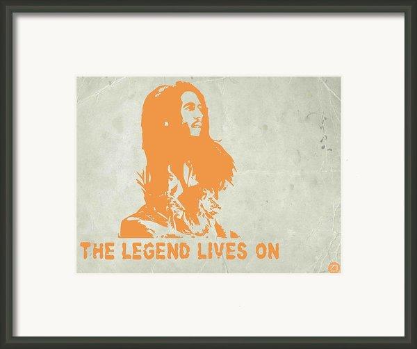 Bob Marley Yellow 4 Framed Print By Irina  March