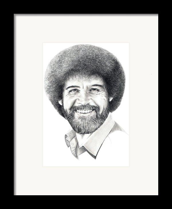 Bob Ross Framed Print By Murphy Elliott