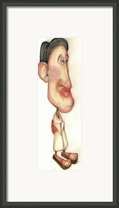 Bobblehead No 38 Framed Print By Edward Ruth