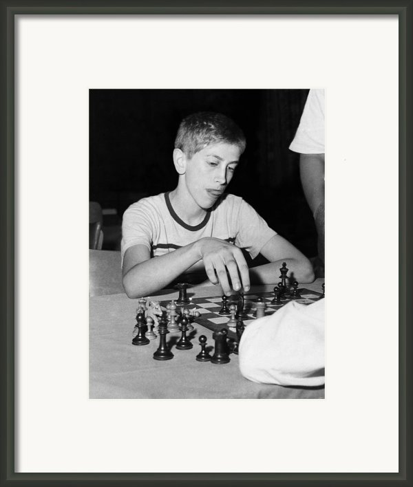 Bobby Fischer, Circa 1957 Framed Print By Everett