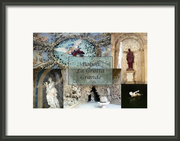 Boboli La Grotta Grande 2 Framed Print By Ellen Henneke