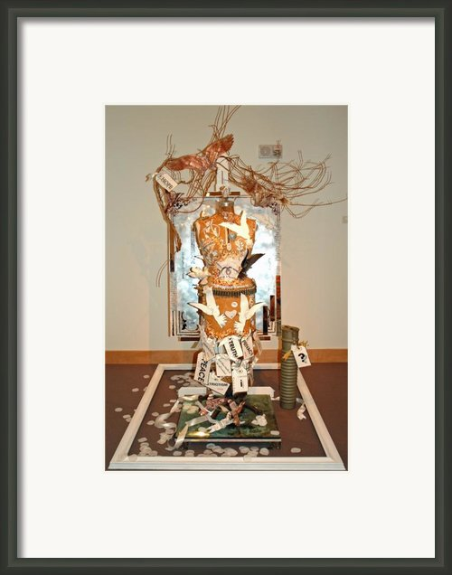 Boca Raton Museum Of Art Biennial - Hope Framed Print By Anahi Decanio