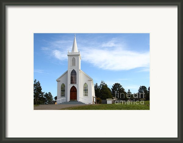 Bodega Catholic Church . Bodega Bay . Town Of Bodega . 7d12437 Framed Print By Wingsdomain Art And Photography