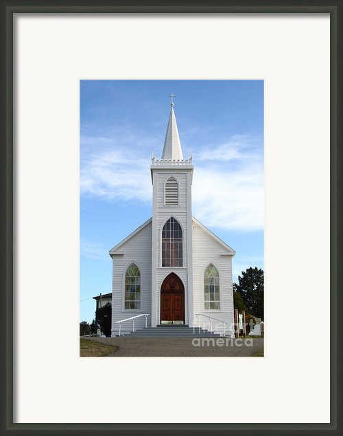 Bodega Catholic Church . Bodega Bay . Town Of Bodega . 7d12438 Framed Print By Wingsdomain Art And Photography