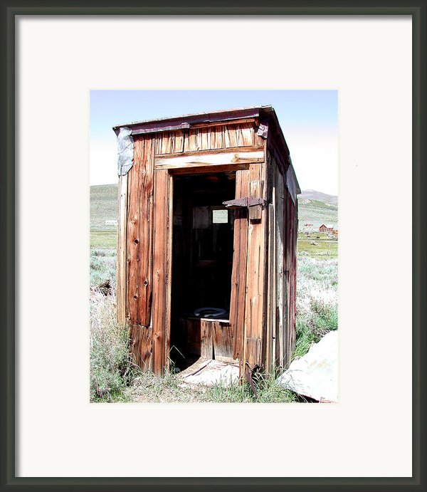 Bodie Outhouse 2 Framed Print By Lydia Warner Miller