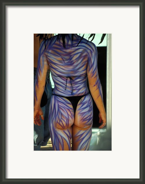 Body Paint At Fantasy Fest In Key West Framed Print By Carl Purcell